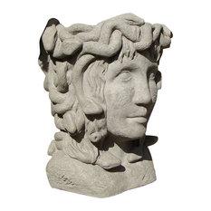 Medusa Head Planter, Old Stone
