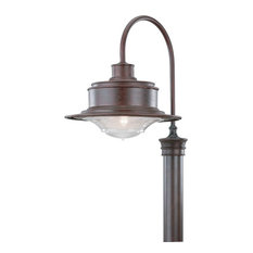 South Street, Outdoor Post Lantern, Large, Old Rust Finish