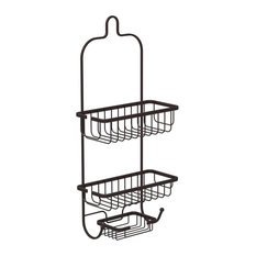american trading hosue inc athome satin nickel shower caddy with soap dish