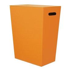 Ecopelle 2462 Leather Laundry Hamper, Orange