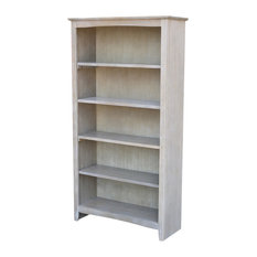 "60"" Shaker Bookcase, Weathered Gray"