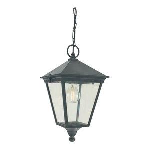 Die-Cast Aluminium Chain Lantern, Black