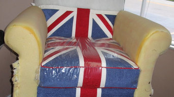 British Flag Chair - Designed & Upholstered By Tracey Ryder