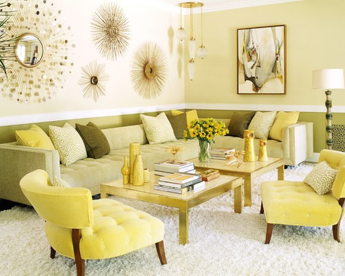 Cream and olive green colour scheme living room ideas photos for Green and cream living room ideas