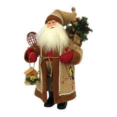 "15"" Chickadee on Burlap Santa"