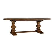 "Archivist Trestle Table With 2-18"" Leaves"
