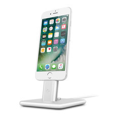 Twelve South - HiRise 2 Deluxe Charging Stand for Lightning and Micro-USB Devices, Silver - Charging Stations