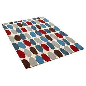 Ripley - Matrix MAX33 Red Teal Rectangle Modern Rug 160x230cm