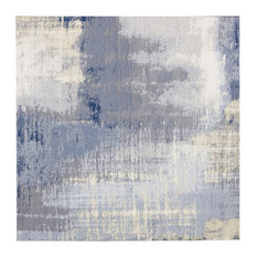 """8""""x8"""" Cement Blue Jeans Glass Wall Tile, Set of 30"""