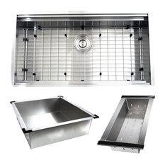 "Nantucket Sinks' ZR-PS-3620-16 - 36"" Pro Series Large Prep Station Single"