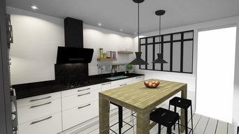 Projet cuisine avec verrière