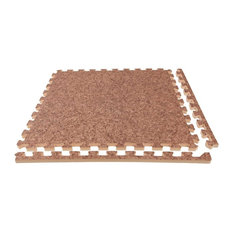 "24""x24"" Soft Wood Foam Tiles, Set of 25, Cork, Soft Case"