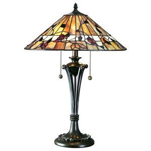 Bernwood Tiffany Style 60 W Table Lamp, Medium