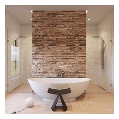 Nordic Rustic Style 3D Teak Wall Panel, 11 Pieces