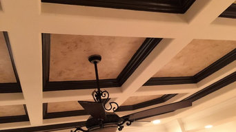 Wet Bar Faux & Metallic & Wine Cellar, Faux Ceiling insets,Faux wall insets