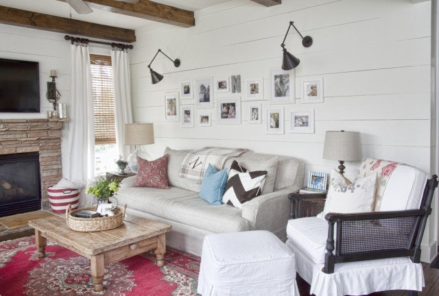 Farmhouse Living Room by Julie Holloway