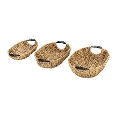 Hyacinth Metal Baskets, 3-Piece Set