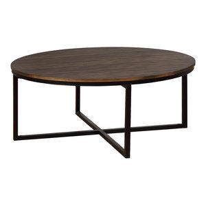 "Arcadia Acacia Wood 42"" Round Coffee Table"