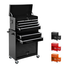 Tool Box Removable Tool Chest Top 2 in 1 Rolling Tool Cabinet W/ Locking System,