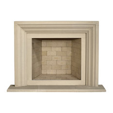Ellie Cast Stone Fireplace Mantel, Buff