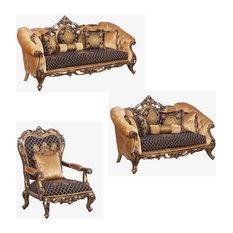 European Furniture - Rosella 3 Piece Luxury Living Room Set