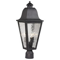 Forged Brookridge 3-Light Outdoor Post Lamp, Charcoal