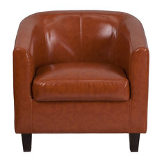 Offex OFX-447281-FF Transitional Cognac Leather Lounge Chair