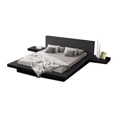 Matisse Co   Fujian Modern Queen Platform Bed With 2 Night Stands, 3 Piece