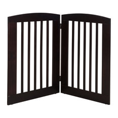 """Ruffluv 2 Panel Expansion Pet Gate, Large 36"""", Cappuccino"""