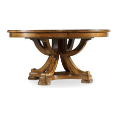 Tynecastle Round Pedestal Dining Table with One 18'' Leaf