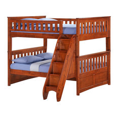NIGHT AND DAY FURNITURE - Night and Day Ginger Full over Full Bunk Bed with Storage Stairs - Bunk Beds