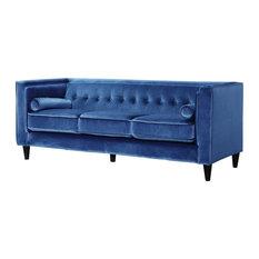 meridian furniture taylor light blue velvet sofa sofas