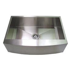 unbranded   handmade curved front apron stainless steel kitchen sink 30     kitchen 30 inch kitchen sinks   houzz  rh   houzz com