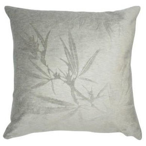 Velvet Plant on Dove Pillow, 61x61cm