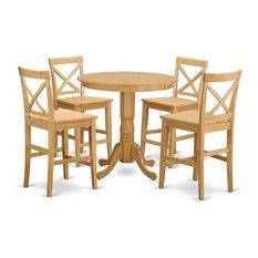 5-Piece Counter Height Dining Room Set High Top Table And 4 Kitchen Chairs