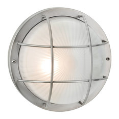 Court Wall or Flush Outdoor Light, Stainless Steel