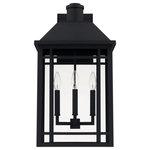 Capital Lighting - Capital-Lighting Braden 3-Light Outdoor Wall Lantern 927131BK, Black - Three-light outdoor wall lantern with Black finish and clear glass.