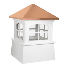 """Huntington Vinyl Cupola With Copper Roof, 26""""x36"""""""