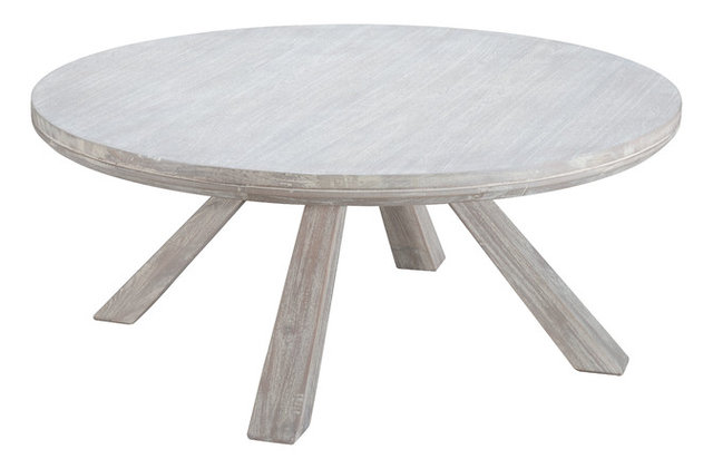 Beaumont Round Coffee Table Beach Style Coffee Tables