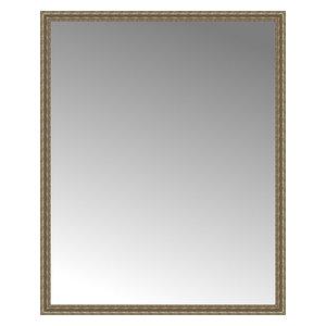 """67""""x83"""" Custom Framed Mirror, Distressed Silver"""
