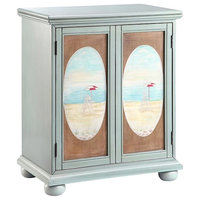 Buchannon Cabinet in Aqua And Brown