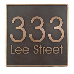 Modern Advantage Address Plaque 13 X13 Bronze Patina Raised 295