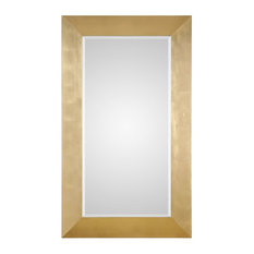 Chaney Gold Leaf Large Scale Wall Mirror