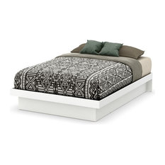 South Shore Basic Full Platform Bed in Pure White
