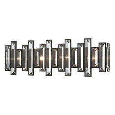 Elk Group International Crystal Heights 4 Light Vanity With Clear Crystal Oil Rubbed