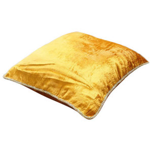 Orange Solid Color 30x30 Velvet Cushions Cover, Glorious Flame