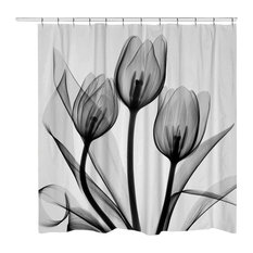 Nature Floral Print Shower Curtains Houzz