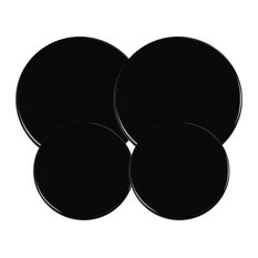 Reston Lloyd - Calypso Basics, Enamel on Steel Burner Cover Set, Black, Set A - Major Kitchen Appliance Parts and Accessories