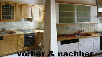 """Küchenrenovierung """"Pinie Riva Weiß"""""""