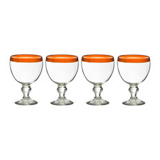 El Gordito Glasses Orange, Set of 4